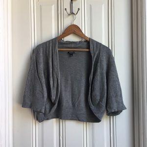 Torrid Grey Short Sleeve Open Cardigan